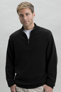 Full Fashion Armhole 1/4 Zip Clubhouse Sweater - Imprinted