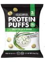 Shrewd Food 24883 Sour Cream & Onion Protein Puffs 0.74oz (2-8ct Trays per Case)