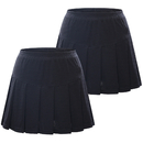TopTie 2-Pack Big Girls Running Skorts Casual Gym Tennis Skirt with Shorts