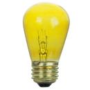Sunlite 01178-SU 11S14/TY/3/4PK 11 Watt S14 Colored Sign, Medium Base, Transparent Yellow
