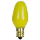 Sunlite 01265-SU 7 Watt C7 Colored Night Light Light Bulb, Candelabra Base, Yellow, 25 Pack