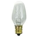 Sunlite 01280-SU 7C7/CL/25PK 7 Watt C7 Night Light, Candelabra Base, Clear