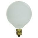 Sunlite 01645-SU 15G16.5/WH 15 Watt G16.5 Globe, Candelabra Base, White