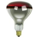 Sunlite 03689-SU 375R40/H/R 375 Watt R40 Heat Lamp, Medium Base, Transparent Red