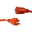Sunlite 04205-SU EX50/HD/16/O EX50-16/3 Heavy Duty 50 Foot Orange Outdoor Extension Cord