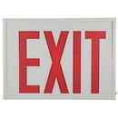 Sunlite 04307-SU EXIT/SU/1-2F/R/W/EM/NYC Surface Mount Exit Light, White Housing, Single or Double Faced White Plate, Red Letters, NYC Approved, Emergency Backup Battery