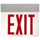 Sunlite 04317-SU EXIT/EDGE/SU/1RF/CL/WH/NYC Surface Mount Edge-Lit Exit Light, White Housing, Single Faced Clear Plate, NYC Approved, Universal Mounting Plate Included