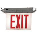 Sunlite 04325-SU EXIT/EDGE/RC/1RF/CL/AL/EM/NYC Recessed Edge-Lit Exit Light, Aluminum Housing, Single Faced Clear Plate, NYC Approved, Emergency Backup Battery, Universal Mounting Plate Included