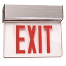 Sunlite 04327-SU EXIT/EDGE/SU/1RF/CL/WH/EM/NYC Surface Mount Edge-Lit Exit Light, White Housing, Single Faced Clear Plate, NYC Approved, Emergency Backup Battery, Universal Mounting Plate Included