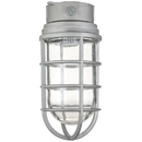 Sunlite 04987-SU VT201 Ceiling Mount Vaporproof Industrial Fixture, Metallic Finish, Clear Glass, 3/4 piping