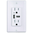 Sunlite 08153-SU RECEPTACLE/USB/4.6A/WH/TR