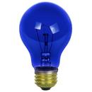 Sunlite 17000-SU 25A/TB/B/CD2 25 Watt A19 Colored, Medium Base, Transparent Blue