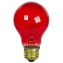 Sunlite 17010-SU 25A/TB/R/CD2 25 Watt A19 Colored, Medium Base, Transparent Red