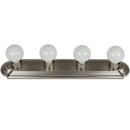 Sunlite 45100-SU B424/BN 4 Lamp Vanity Globe Style Fixture, Brushed Nickel Finish