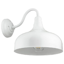 Sunlite 46068-SU FIX/GN/E26/WHITE Gooseneck Barn Fixture, 12 Inch, Indoor and Outdoor Use, UL Listed Wet Location