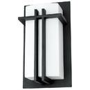Sunlite 46092-SU FIX/WS/E26/BLACK Rectangle Incandescent Wall Sconce Fixture, Black Powder Finish