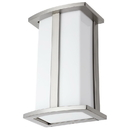 Sunlite 46094-SU FIX/WS/E26/SS Rectangle Incandescent Wall Sconce Fixture, Brushed Nickel Finish