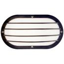 Sunlite 47204-SU DOD/EBL/BK/FR/MED Decorative Outdoor Eurostyle Oblong Linear Fixture, Black Finish, Frosteded Lens