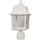 Sunlite 47218-SU DOD/ORP/WH/CL/MED Decorative Outdoor Orchid Post Fixture, White Finish, Clear Lens