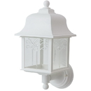 Sunlite 47226-SU Decorative Outdoor Orchid Up Fixture, White Finish, Clear Lens