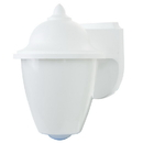 Sunlite 47232-SU DOD/CS/WH/WH/MED Decorative Outdoor Carriage Style Fixture, White Finish, White Lens