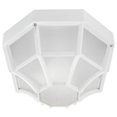 Sunlite 47240-SU Decorative Outdoor Octagonal Collection Fixture, White Finish, Frosted Lens