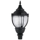 Sunlite 49185-SU LFX/PTL/60W/50K LED Decorative Acorn Pole-Top Commercial Outdoor Fixture, Dimmable, Frosted Black Finish, 6720 Lumens, 120-277 V, 60 Watt, 50K - Super White