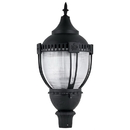 Sunlite 49186-SU LFX/PTL/80W/50K LED Decorative Acorn Pole-Top Commercial Outdoor Fixture, Dimmable, Frosted Black Finish, 8720 Lumens, 120-277 V, 80 Watt, 50K - Super White