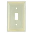 Sunlite 50502-SU E101/I 1 Gang Toggle Switch Plate, Ivory