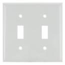 Sunlite 50517-SU E102/W 2 Gang Toggle Switch Plate, White