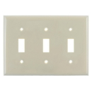 Sunlite 50522-SU E103/I 3 Gang Toggle Switch Plate, Ivory