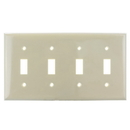 Sunlite 50532-SU E104/I 4 Gang Toggle Switch Plate, Ivory