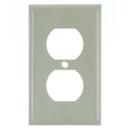 Sunlite 50602-SU E211/I 1 Gang Duplex Receptacle Plate, Ivory