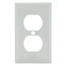 Sunlite 50607-SU E211/W 1 Gang Duplex Receptacle Plate, White