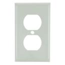 Sunlite 50608-SU E211/A 1 Gang Duplex Receptacle Plate, Almond