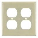 Sunlite 50612-SU E212/I 2 Gang Duplex Receptacle Plate, Ivory