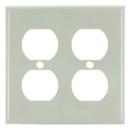 Sunlite 50613-SU E212/A 2 Gang Duplex Receptacle Plate, Almond