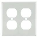 Sunlite 50617-SU E212/W 2 Gang Duplex Receptacle Plate, White