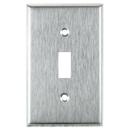 Sunlite 50625-SU E101/S 1 Gang Toggle Switch Plate, Steel