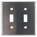 Sunlite 50630-SU E102/S 2 Gang Toggle Switch Plate, Steel