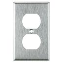 Sunlite 50640-SU E211/S 1 Gang Duplex Receptacle Plate, Steel