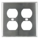 Sunlite 50645-SU E212/S 2 Gang Duplex Receptacle Plate, Steel