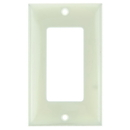 Sunlite 50702-SU E301/A 1 Gang Decorative Switch and Receptacle Plate, Almond