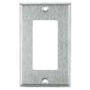 Sunlite 50703-SU E301/S 1 Gang Decorative Switch and Receptacle Plate, Steel