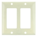 Sunlite 50717-SU E302/A 2 Gang Decorative Switch and Receptacle Plate, Almond