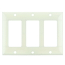 Sunlite 50732-SU E303/A 3 Gang Decorative Switch and Receptacle Plate, Almond