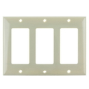 Sunlite 50737-SU E303/I 3 Gang Decorative Switch and Receptacle Plate, Ivory