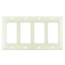 Sunlite 50747-SU E304/A 4 Gang Decorative Switch And Receptacle Plate, Almond