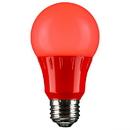 Sunlite 80148-SU A19/3W/R/LED LED A Type Colored 3W Light Bulb Medium (E26) Base, Red