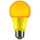 Sunlite 80149-SU A19/3W/Y/LED LED A Type Colored 3W Light Bulb Medium (E26) Base, Yellow